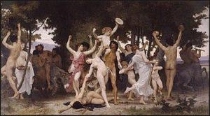 Drunken Saturnalia frenzy