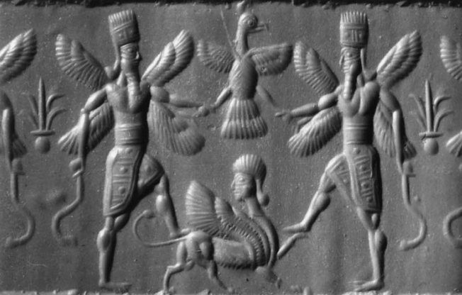 An animal hybrid - a Babylonian relief