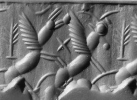 Winged animals - a Mesopotamian relief