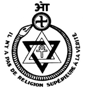 Theosophy logo loaded with occult signs