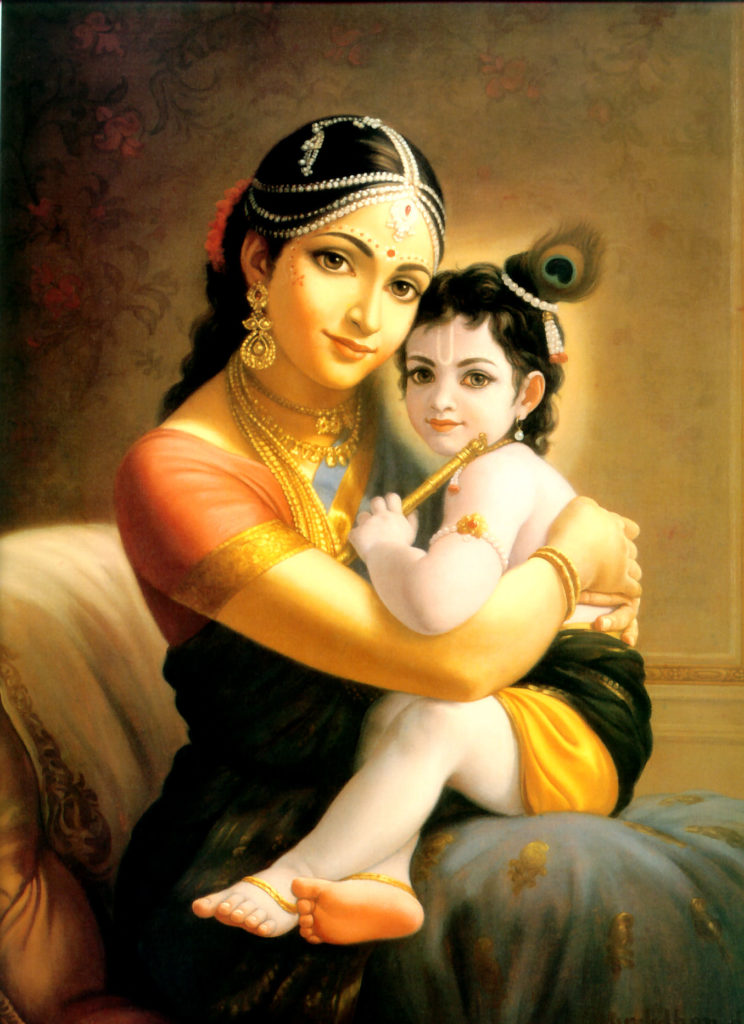 Krishna with his mother