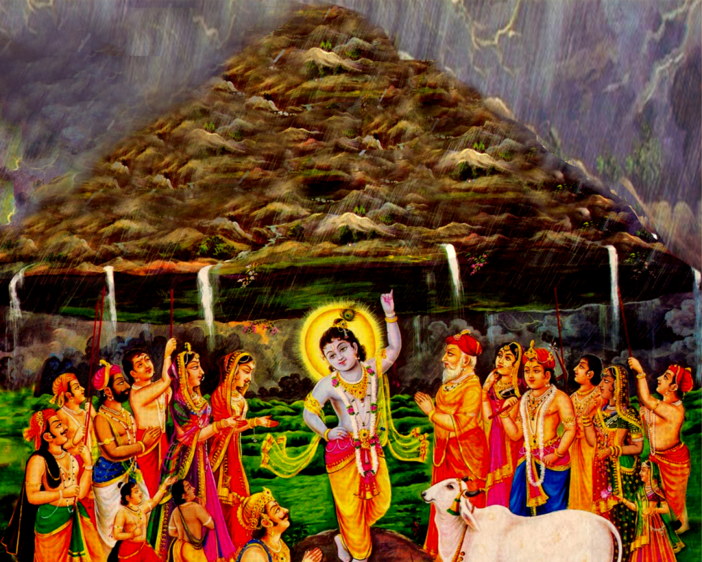 Krishna uprooted a mountain