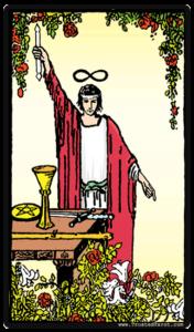Tarot card magician
