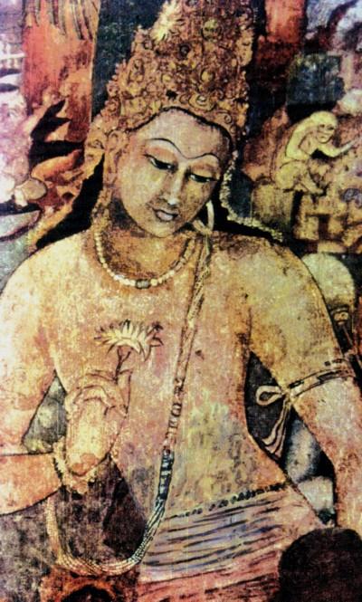 Prince Buddha - Ajanta Caves painting, India