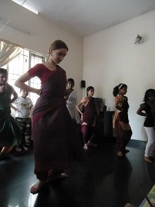 Dancing with children! (Bharatanatyam)