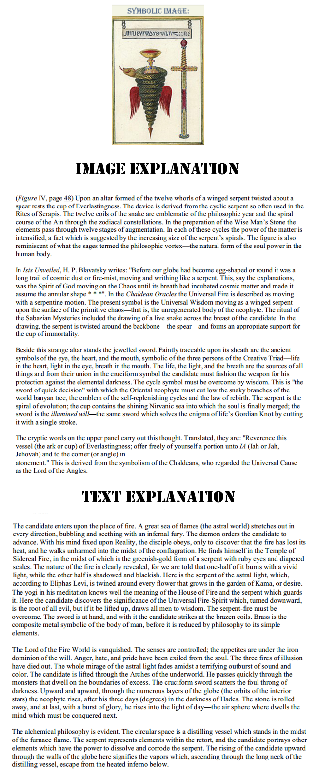Most Holy Trinosophia Section Four Explanation