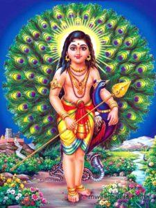 Lord Murugan - war god of South India associated with Mars