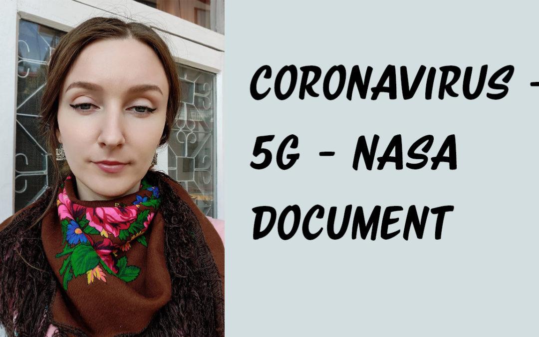 Short Personal Update: Coronavirus, 5G, NASA Document